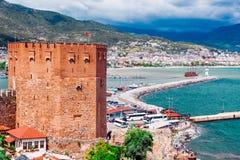 Antalya cityscape Arkivfoton