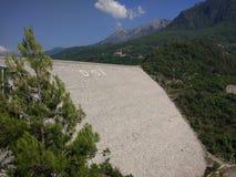 Antalya dunkel fördämning arkivbilder