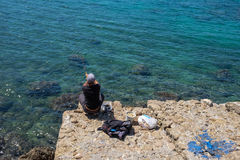 Antalya Fishing. A walk in the Antalya Old City royalty free stock photography