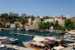 Antalya harbor or marina Royalty Free Stock Photos
