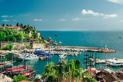 Antalya harbor. Turkey stock image