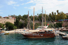 Antalya  harbour Royalty Free Stock Image