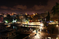 Antalya Kaleici na noite em Turquia Imagens de Stock