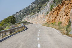 Antalya Kas-Patara droga pośrodku Obrazy Royalty Free