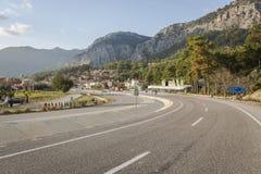 Antalya Kas-Patara droga pośrodku Zdjęcie Royalty Free