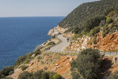 Antalya Kas-Patara droga pośrodku Fotografia Royalty Free