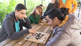 Antalya - Kas, TURKEY. DECEMBER 2016: Chinese go, weiqi game workshop with students. Outdoor activity Royalty Free Stock Photography