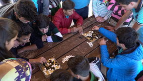 Antalya - Kas, TURKEY. DECEMBER 2016: Chinese go, weiqi game workshop with students. Outdoor activity Royalty Free Stock Images