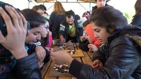 Antalya - Kas, TURKIET DECEMBER 2016: Kines går, det modiga seminariet för weiqien med studenter Royaltyfria Bilder