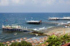 Antalya kustlinje, Turkiet Arkivbilder