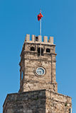 Antalya landmark. Clock tower in downtown Antalya Turkey. Turkish landmark Stock Photography