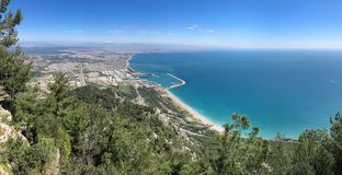 Antalya-Meer, Stadtleben und Tourismusregion stockfotos