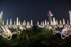 Antalya night. Beach clear sky Stock Photos
