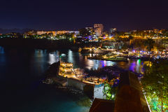 Antalya at Night. Antalya Yacht Harbor at Night Royalty Free Stock Photography