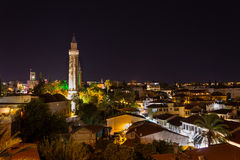 Antalya at Night. Yivli Minaret in Antalya at Night Royalty Free Stock Photography