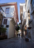 Antalya old town street, Antalya old city street royalty free stock photos