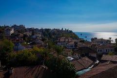 Antalya oude stad, de oude stad van Antalya Stock Afbeelding