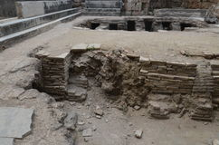 Antalya Perge ancient city, the agora, the ancient Roman empire, interior, floor Royalty Free Stock Photos