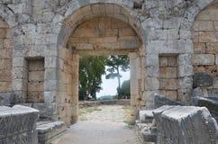 Antalya Perge ancient city, the agora, the ancient Roman Empire Royalty Free Stock Photo
