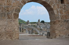 Antalya Perge ancient city, the agora, the ancient Roman Empire Stock Image