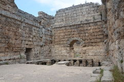 Antalya Perge ancient city, the agora, Stock Image