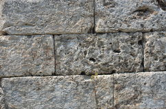 Antalya Perge ancient Greek, thousands of years old stone block wall Royalty Free Stock Image