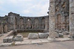 Antalya Perge antyczny miasto agora antyczny imperium rzymskie, żywa przestrzeń, spektakularni filary i historia, Obrazy Stock