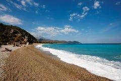 Antalya, praia de Olympos Fotografia de Stock
