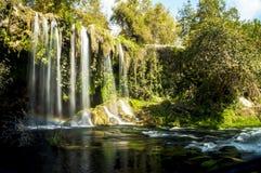 Antalya, queda de Duden, cachoeira fotografia de stock royalty free
