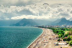 Antalya seaside Turkey. Antalya harbor. Popular resort in Turkey Stock Images