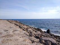 Antalya-Seiten-Strand Lizenzfreies Stockbild