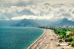 Antalya sjösida Turkiet Arkivbilder