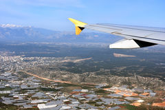 Antalya. Starting or landing in  Antalya , turkey. areal view Royalty Free Stock Images