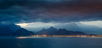 Antalya. The storm is coming to antalya Royalty Free Stock Photo