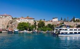Antalya, Turkey. Boats in the Antalya's marina, Turkey Stock Photo