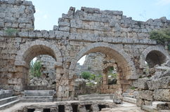 Antalya, Turkey, the ancient city of Perge, ancient Roman times and the facts here Royalty Free Stock Images