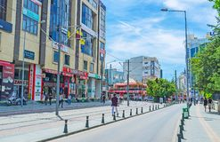 The modern avenues in Antalya Royalty Free Stock Photography