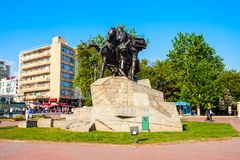 Republic Square in Antalya, Turkey stock image