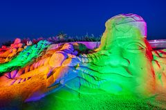 Antalya Sandland Sand Sculpture Museum royalty free stock photo
