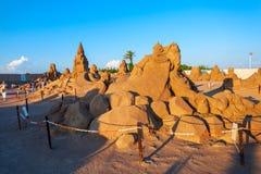 Antalya Sandland Sand Sculpture Museum stock photography