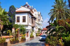 Antalya, Turkey. Street scene in Kaleici - the historic city center of Antalya, Turkey stock images
