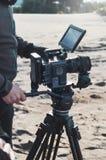 ANTALYA, TURQUÍA - 8 DE ENERO DE 2019: Película con la cámara ROJA del dragón 6k foto de archivo libre de regalías