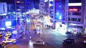 Antalya, Turquia - 17 de agosto de 2018: A cidade da noite ilumina o vídeo Antalya, Turquia, o 17 de agosto de 2018 vídeos de arquivo