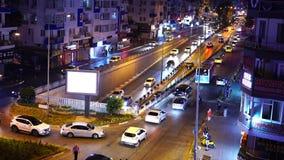 Antalya, Turquia - 17 de agosto de 2018: A cidade da noite ilumina o vídeo Antalya, Turquia, o 17 de agosto de 2018 filme