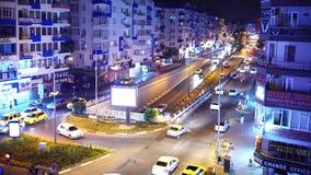 Antalya, Turquie - 17 août 2018 : La ville de nuit allume la vidéo Antalya, Turquie, le 17 août 2018 clips vidéos