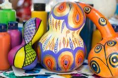 ANTALYA, TURQUIE - 25 JUIN 2017 : Potiron turc oriental de lampes fait main Photo stock