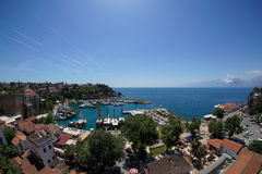 Antalya View. Over old city stock photography
