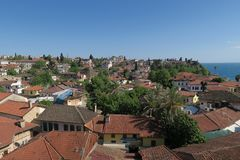 Antalyas Old Town Kaleici with its Famous Red Roofs Stock Photography