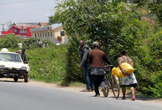 Antananarivo, Μαδαγασκάρη 24 ΝΟΕΜΒΡΊΟΥ 2016: Δραστηριότητα ανθρώπων μέσα Στοκ Εικόνα