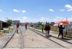 Antananarivo, Μαδαγασκάρη 24 ΝΟΕΜΒΡΊΟΥ 2016: Δραστηριότητα ανθρώπων μέσα Στοκ φωτογραφία με δικαίωμα ελεύθερης χρήσης
